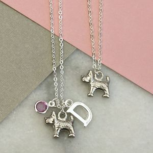 Little Dog Charm Necklace - more