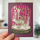 Tiger Bell Jar Birthday Card