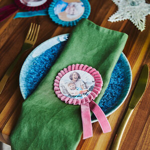 Personalised Rosette Decoration Place Setting