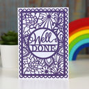'Well Done' Printed Card