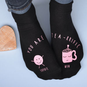 Teariffic Mum And Me Personalised Socks - mother's day gifts