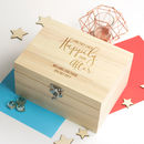 Personalised Happily Ever After Wedding Keepsake Box