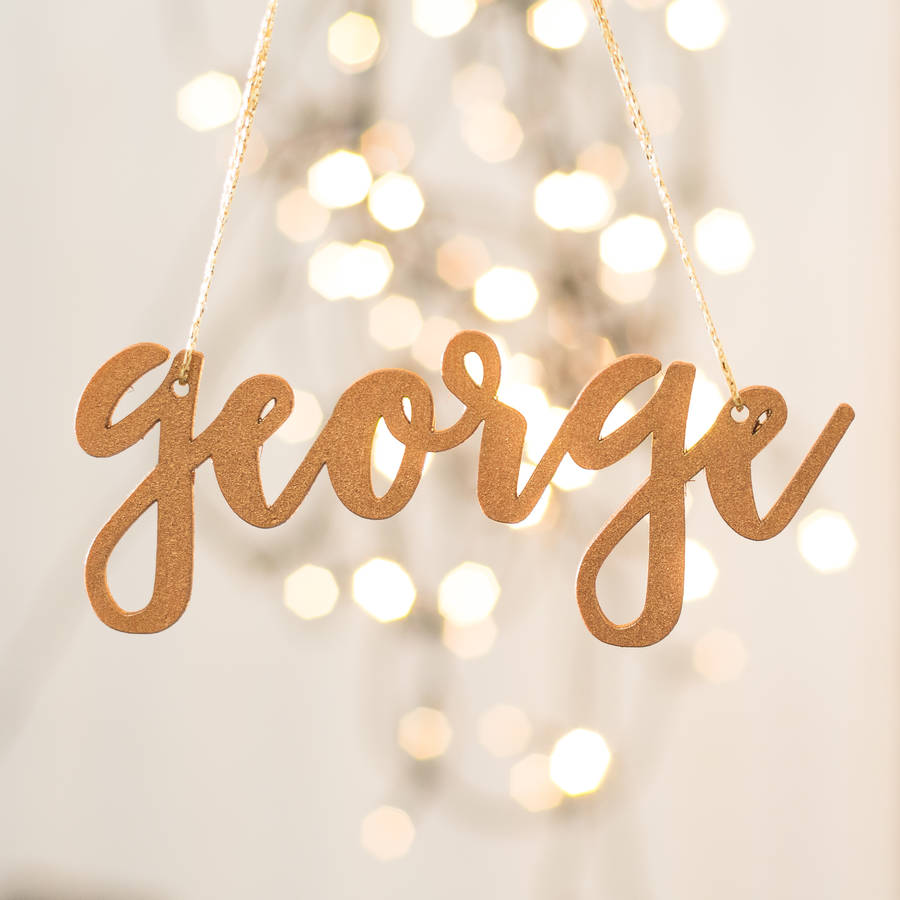 personalised glitter copper christmas tree decorations - Copper Christmas Decorations