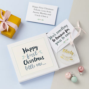 Baby's First Christmas Decoration Gift Set - cards & wrap