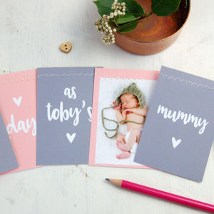 First Mother's Day Photo Bunting Card - mother's day gifts