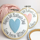 First Mothers Day Embroidered Personalised Card