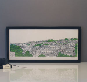 St Ives Rooftops Print - drawings & illustrations