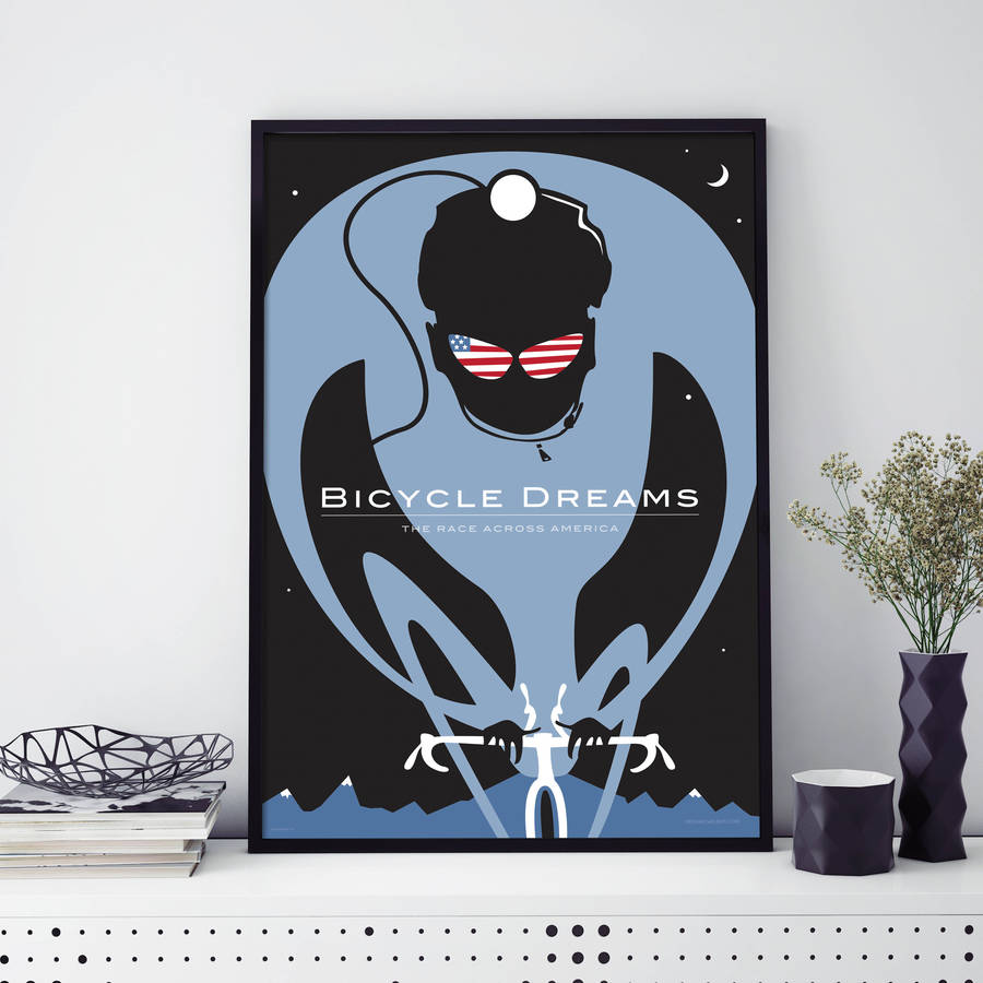 Bicycle Dreams Contemporary Cycling Print