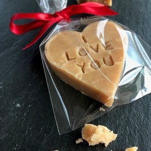 Valentines Day Scottish Tablet Heart - little gestures