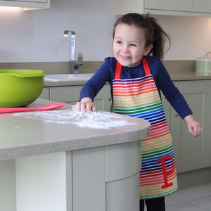 Rainbow Children's Apron - children's cooking