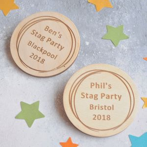 Personalised Stag Do Badges - personalised jewellery