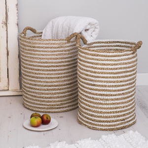 Hyacynth Wicker Baskets Set Of Two
