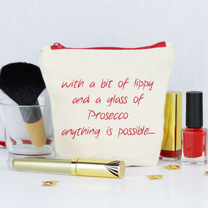 Personalised 'Anything Is Possible' Make Up Purse