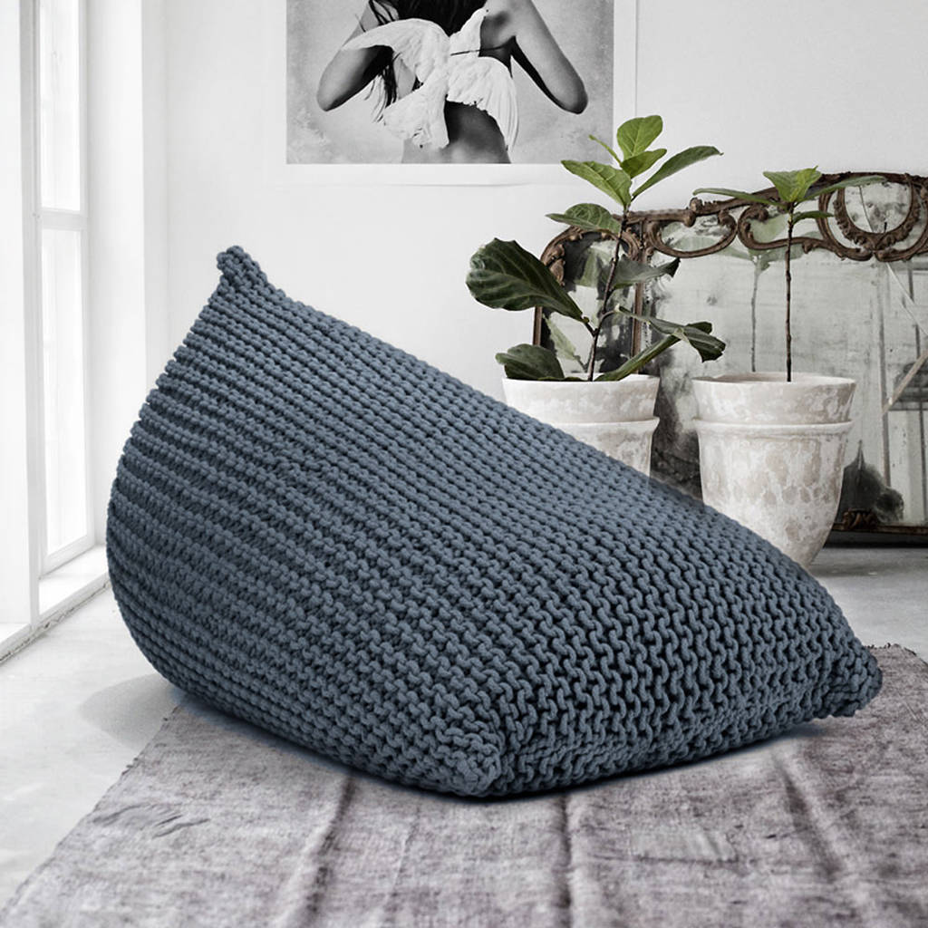 knitted beanbag by grattify | notonthehighstreet.com