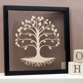 Family Tree in Shimmering Silver/Champagne
