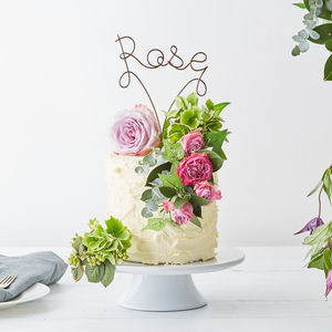 Personalised Name Wire Cake Topper - table decorations