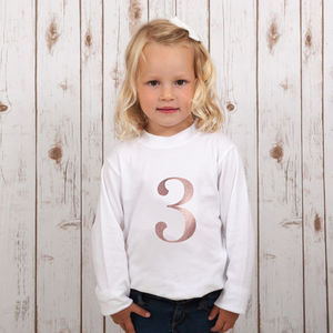 Birthday Number T Shirt For Girls