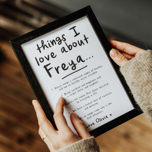 Personalised 'Things We Love About' Our Friend Print