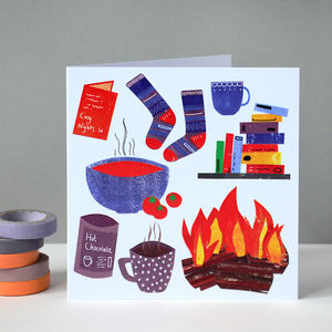Cosy Winter Greetings Card - birthday cards