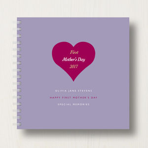 Personalised 1st Mother's Day Memories Book Or Album - 1st mother's day