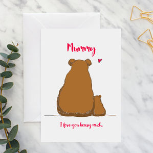 Mummy And Baby Bear A5 Card - view all mother's day gifts