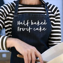 Half Baked Fruitcake Blue Denim Apron