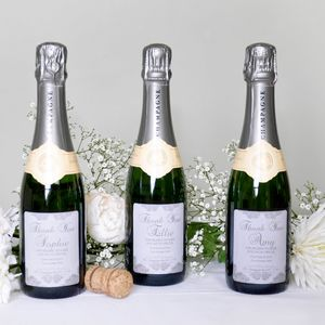 Personalised Bridesmaids Thank You Champagne Gifts - bridesmaid gifts