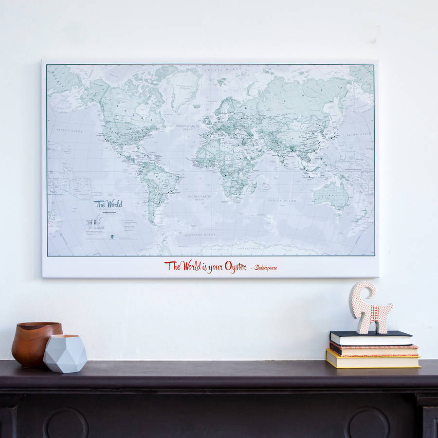 Personalised World Is Art Map personalised world