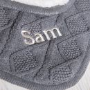 Personalised Sherpa Fleece Cable Baby Blanket