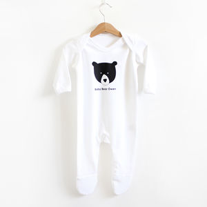Baby Bear, Personalised Romper - clothing