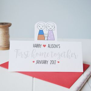 Personalised First Home Together Card