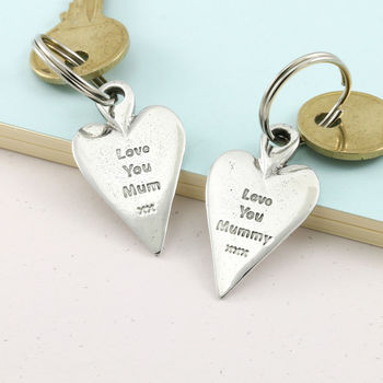Love You Mummy Long Heart Keyring Gift