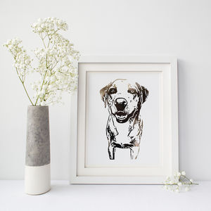 Personalised Pet Portrait Foil Photograph Print - pet portraits