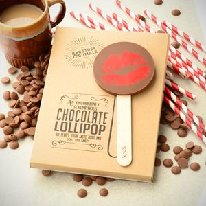 Big Red Lips Milk Chocolate Lollipop - chocolates & confectionery