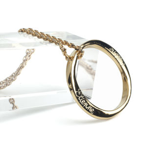 9ct Solid Gold Infinity Ring Pendant