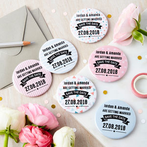 10 Personalised Save The Date Magnets