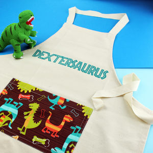 Dinosaur Personalised Children's Apron - summer sale