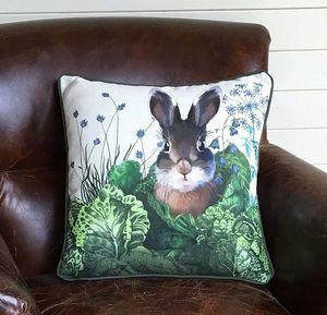 Cabbage Patch Rabbit Decorative Cushion Four - patterned cushions