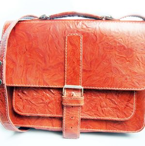 Leather Satchel Bright - satchels