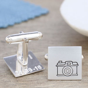 Camera Cufflinks. Thank You Gift For Photographer