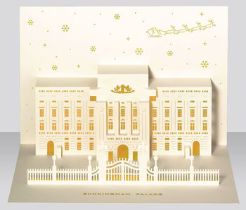 Buckingham Palace Pop Up Christmas Card
