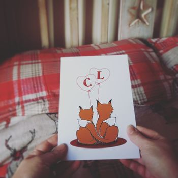 Fox Couple Card
