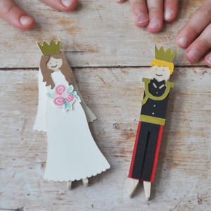 Make Your Own Harry And Meghan Royal Wedding Peg Dolls
