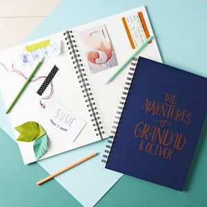 Personalised Grandad And Co Memory Book - gifts for fathers