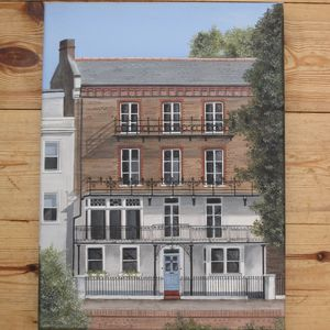 Hand Painted Personalised House Portrait - canvas prints & art