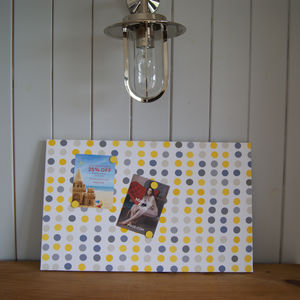 Mismatch Polka Dot Magnetic Noticeboard - noticeboards