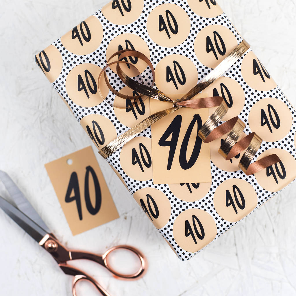 40th Birthday Wrapping Paper
