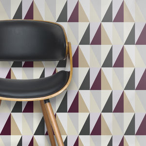 Diamond Geometric Tiled Wallpaper - home decorating