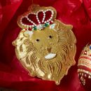 Gold Lion Head Christmas Decoration