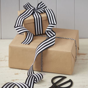Festive Black And White Ribbon And Twine Kit - ribbon & wrap